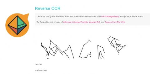 Screenshot of Reverse OCR Tumblr